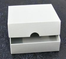 Stülpdeckel-Box quadr. 10,5x10,5 cm Höhe 3,1 cm