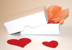 Stülpdeckel-Box klein weiß, planoliegend