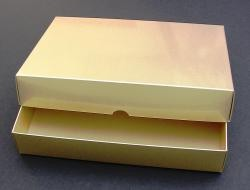 Stülpdeckel-Box DIN A5 Gold, Höhe 4 cm